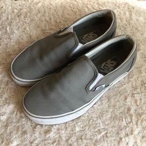 Gray Vans Slip-ons
